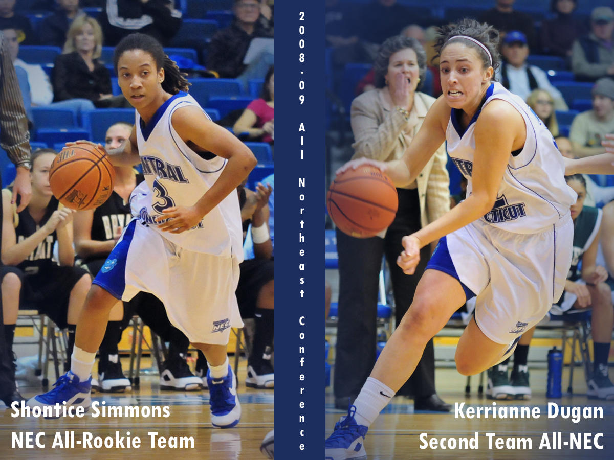 Dugan Selected Second Team All-NEC, Simmons Named to All-Rookie Team