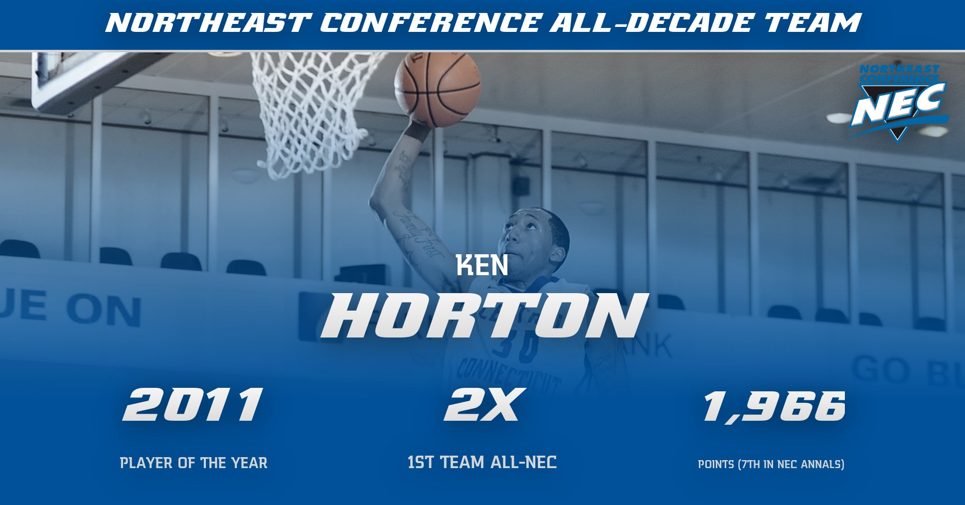 Ken Horton Named to Northeast Conference All-Decade Team