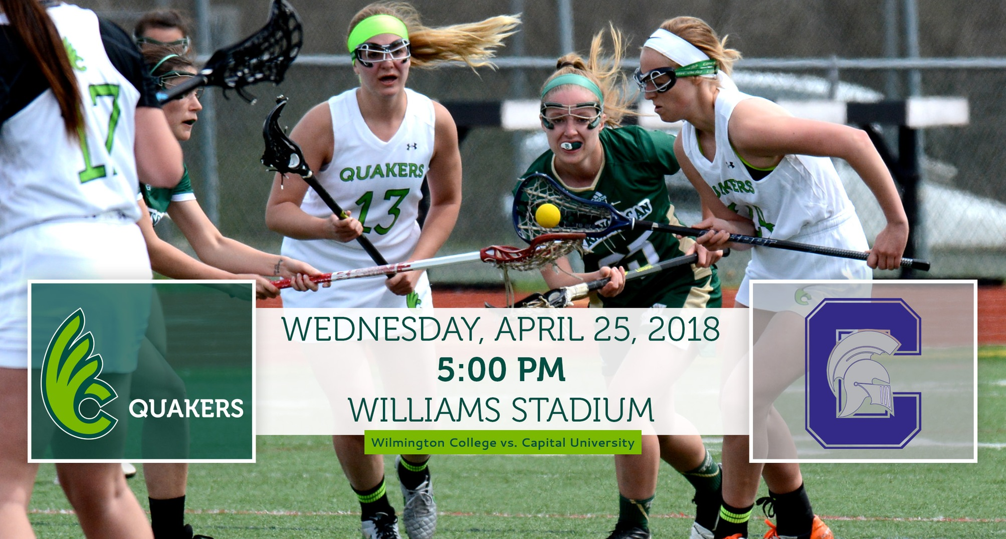 Women's Lacrosse hosts Capital on Wednesday