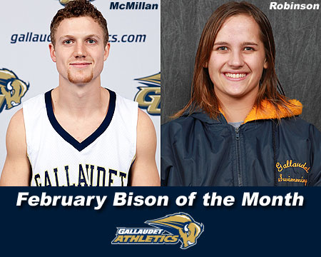 Brandon McMillan, Carlisle Robinson named February Bison of the Month