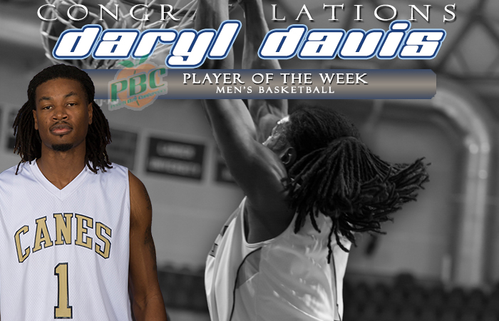 Davis Named Peach Belt Conference Player Of The Week