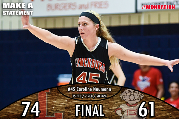 Women's Basketball Claims Statement Game Over Guilford, 74-61