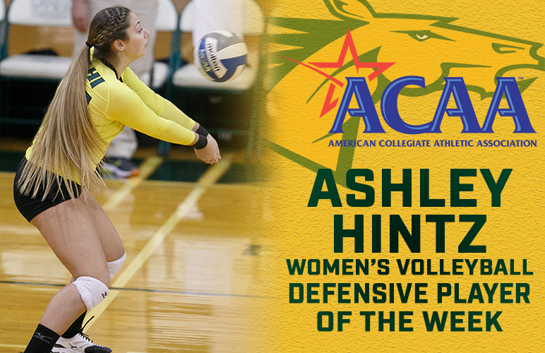 Ashley Hintz Takes ACAA Weekly Award for Second Straight Week, Third Overall