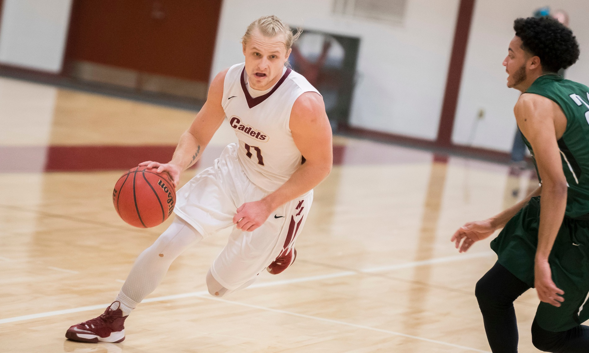 Men's Basketball: Cadets Fall to Lesley, 66-55