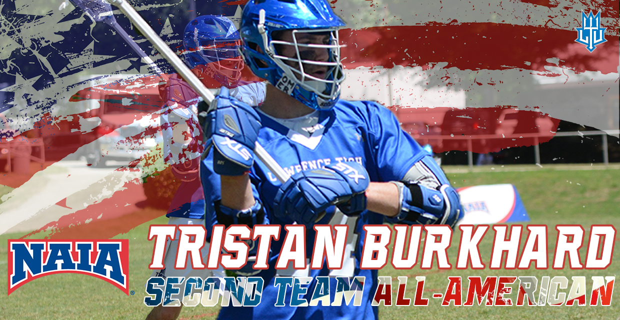 Tristan Burkhard earns Second Team All-American Honors as a junior.