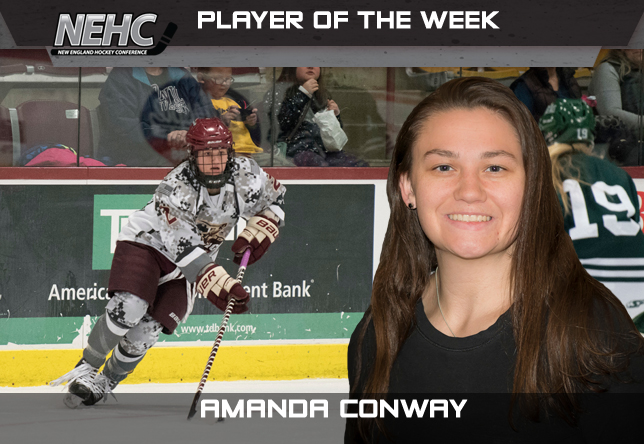 Amanda Conway women's hockey NEHC Player of the Week