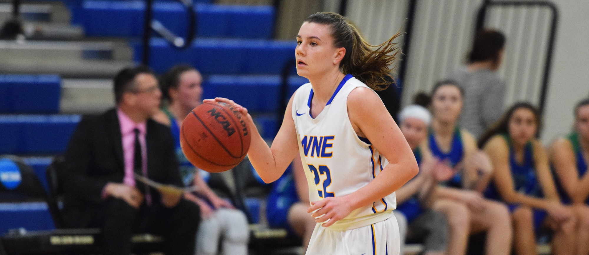 Western New England advanced to the CCC semifinals for the fifth straight season with a 64-52 win over Salve Regina on Tuesday night at the AHLC. (Photo by Rachael Margossian)