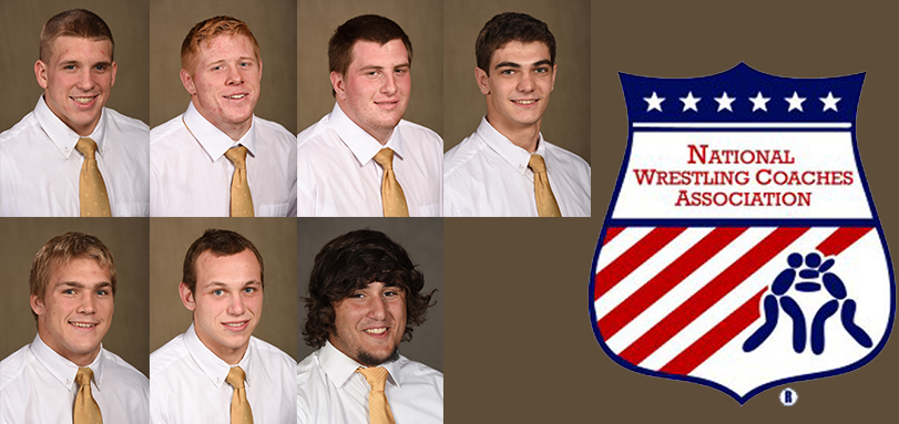 Wrestling Team and Seven Individuals Honored by NWCA for Academics