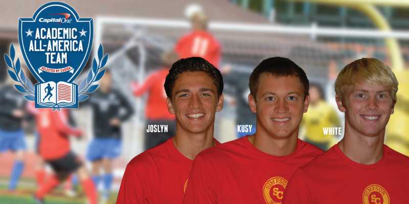 Three men's soccer players earn academic all-district recognition