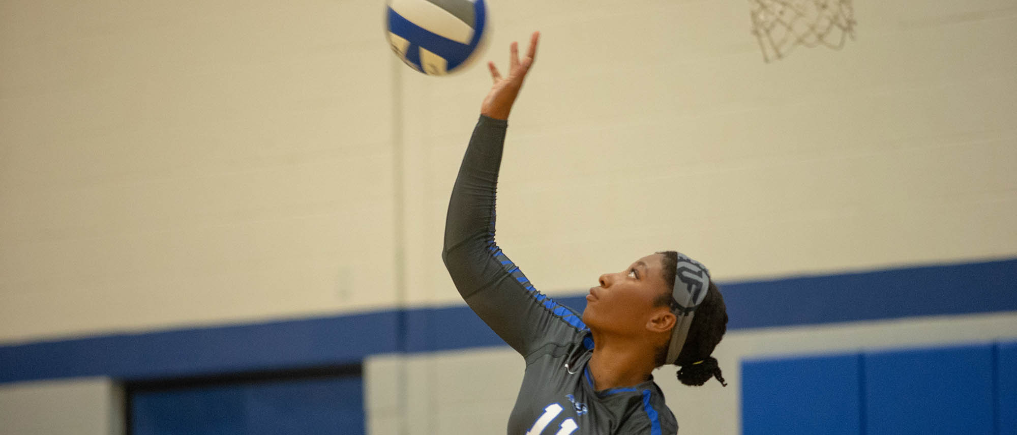 Kayla Dupree of the Becker volleyball team