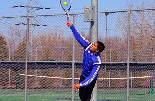 Men's tennis puts up a tough fight against Ripon