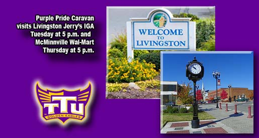 Purple Pride Caravan will travel to Livingston and McMinnville