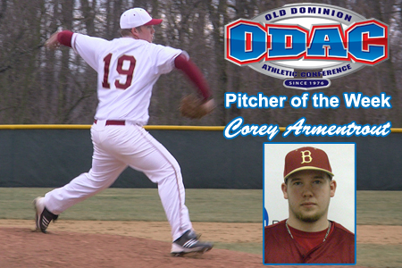 Armentrout Named ODAC Pitcher Of The Week