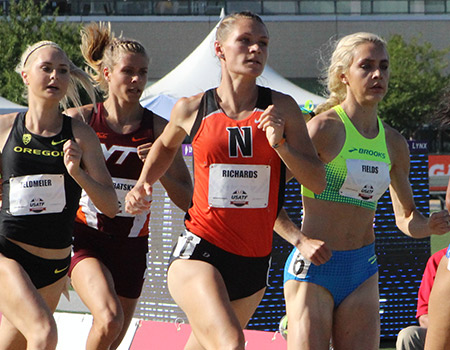 Junior All-American Emily Richards advances through First Round of 800-meter run at USA Track & Field Outdoor Championships