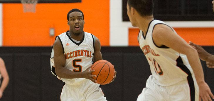Oxy Men's Basketball Rallies, Edges Redlands in Shootout