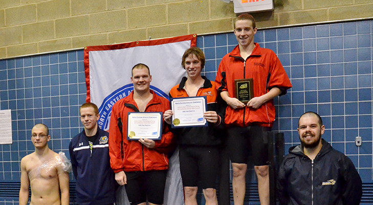 Men's Swimming Nets Third Place At NEAC Championships
