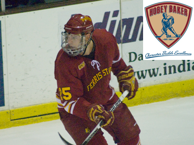 Blair Riley is 2010 Hobey Baker Memorial Award candidate as college hockey's top player in the nation.
