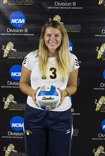 Gunst awarded Association of Division III Independents women's volleyball Player of the Week