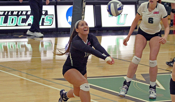 Wilmington Volleyball Takes 3-1 CACC South Division Battle at Holy Family