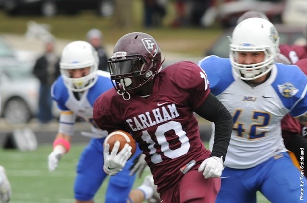 Jalen Kenner became Earlham's all-time leader receiver in 2014 with 182 catches in his career.