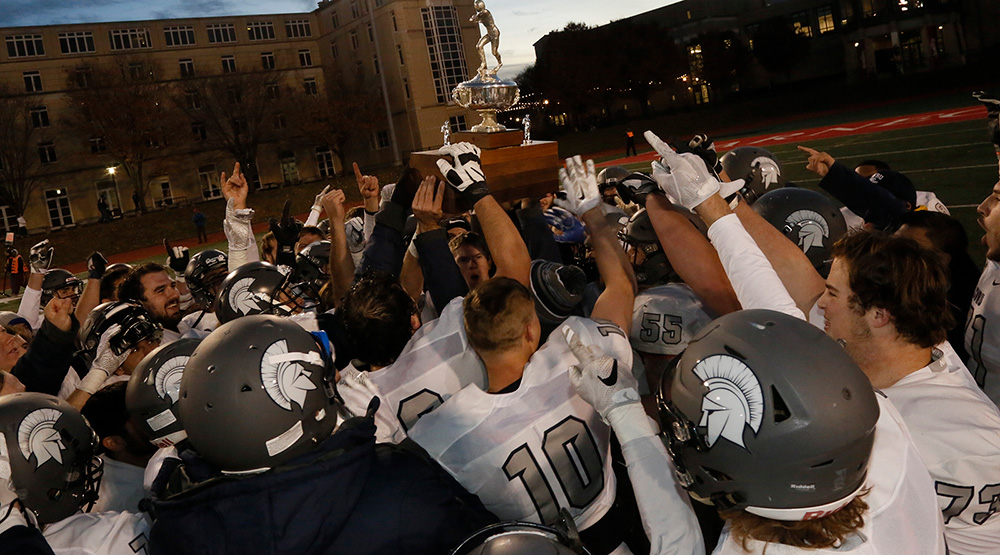 Case Western Reserve with its rivalry trophy