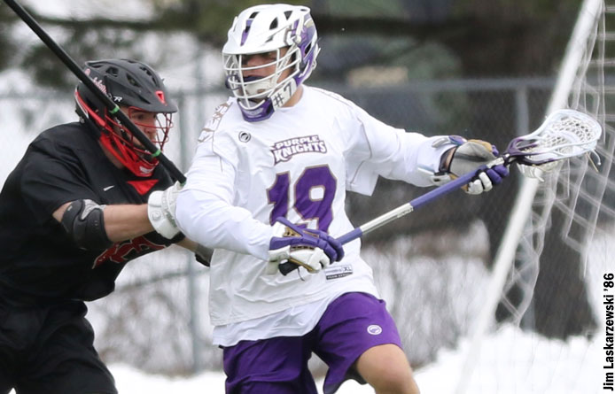 Men's Lacrosse Opens NE10 Play with 16-11 Loss to No. 19 Assumption