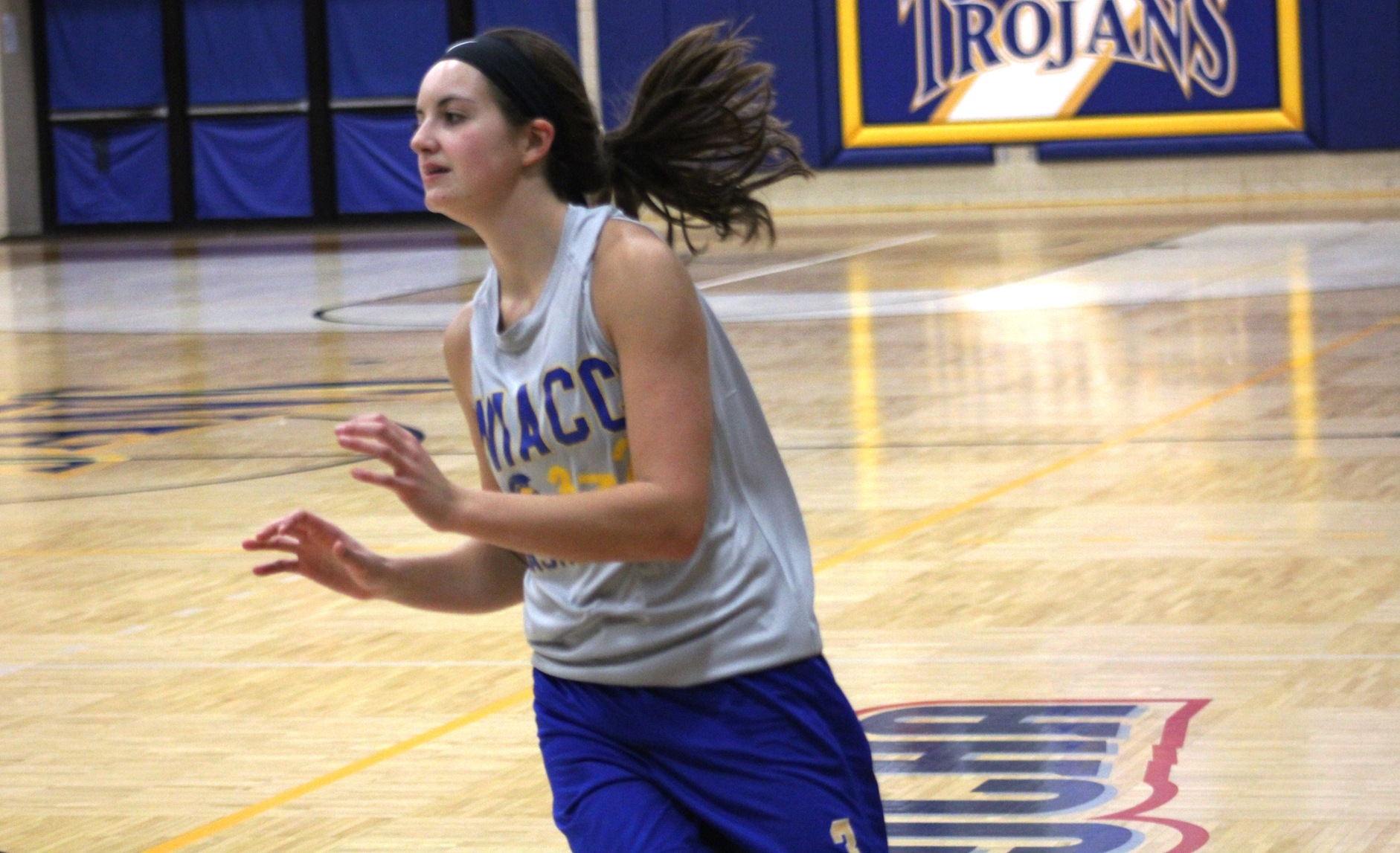 NIACC freshman Mandy Willems looks to catch a pass in a recent practice.