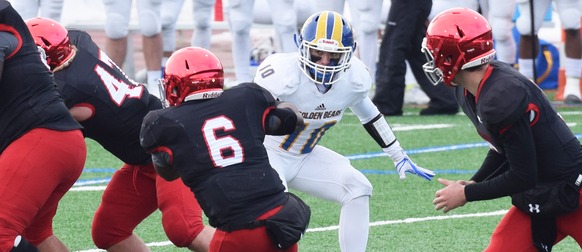 Junior Jake Salera recorded nine tackles and an interception in Western New England's NCAA Tournament loss to No. 6 Frostburg State on Saturday.