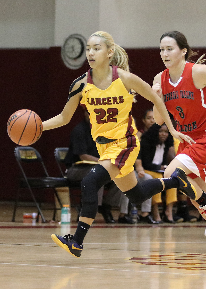 Kailey Thai, from Arroyo High, led the Lancers to a win over College of the Sequoias on Friday night at the HP Gym. She is in action here in the team's home opener on Thursday, photo by Richard Quinton.