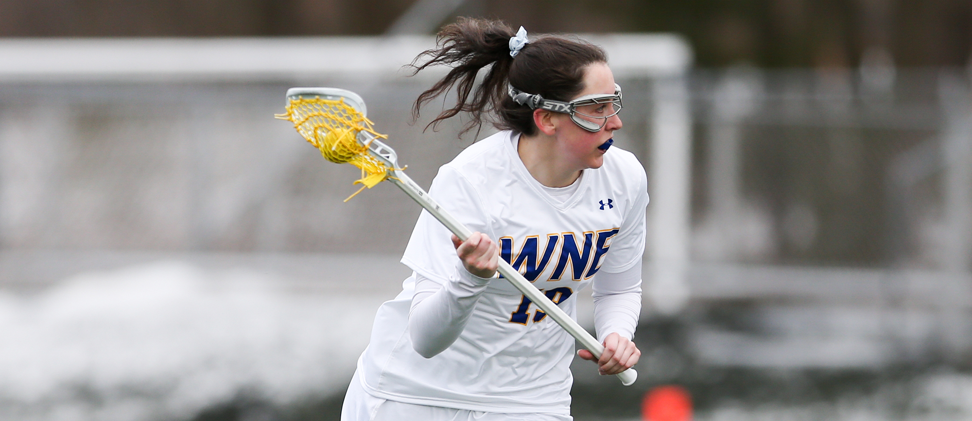 Kristen Breen recorded a season-high 7 points in Western New England's 16-6 win over Gordon on Wednesday. (Photo by Chris Marion)