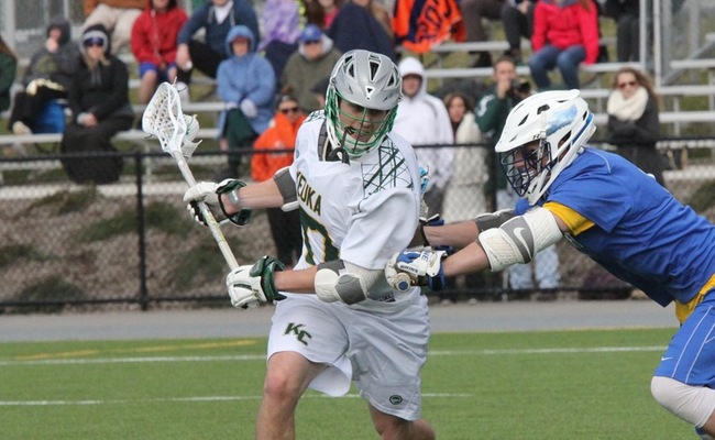 Marco Carney (17) scored for Keuka College on Saturday at Bryn Athyn