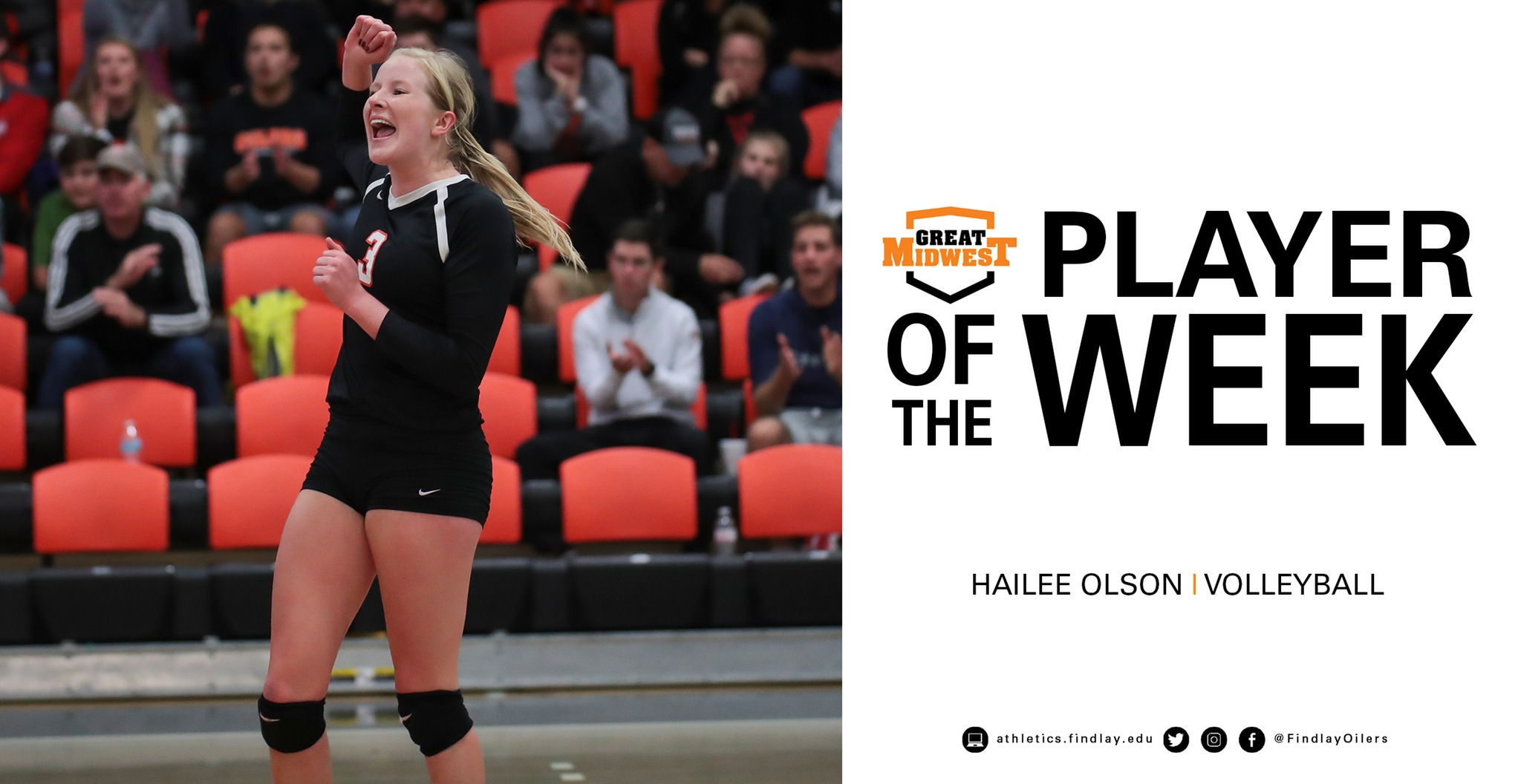 Olson Named Great Midwest Player of the Week