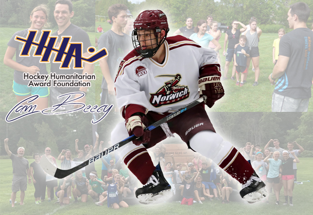 Cam Beecy men's hockey Hockey Humanitarian Award finalist