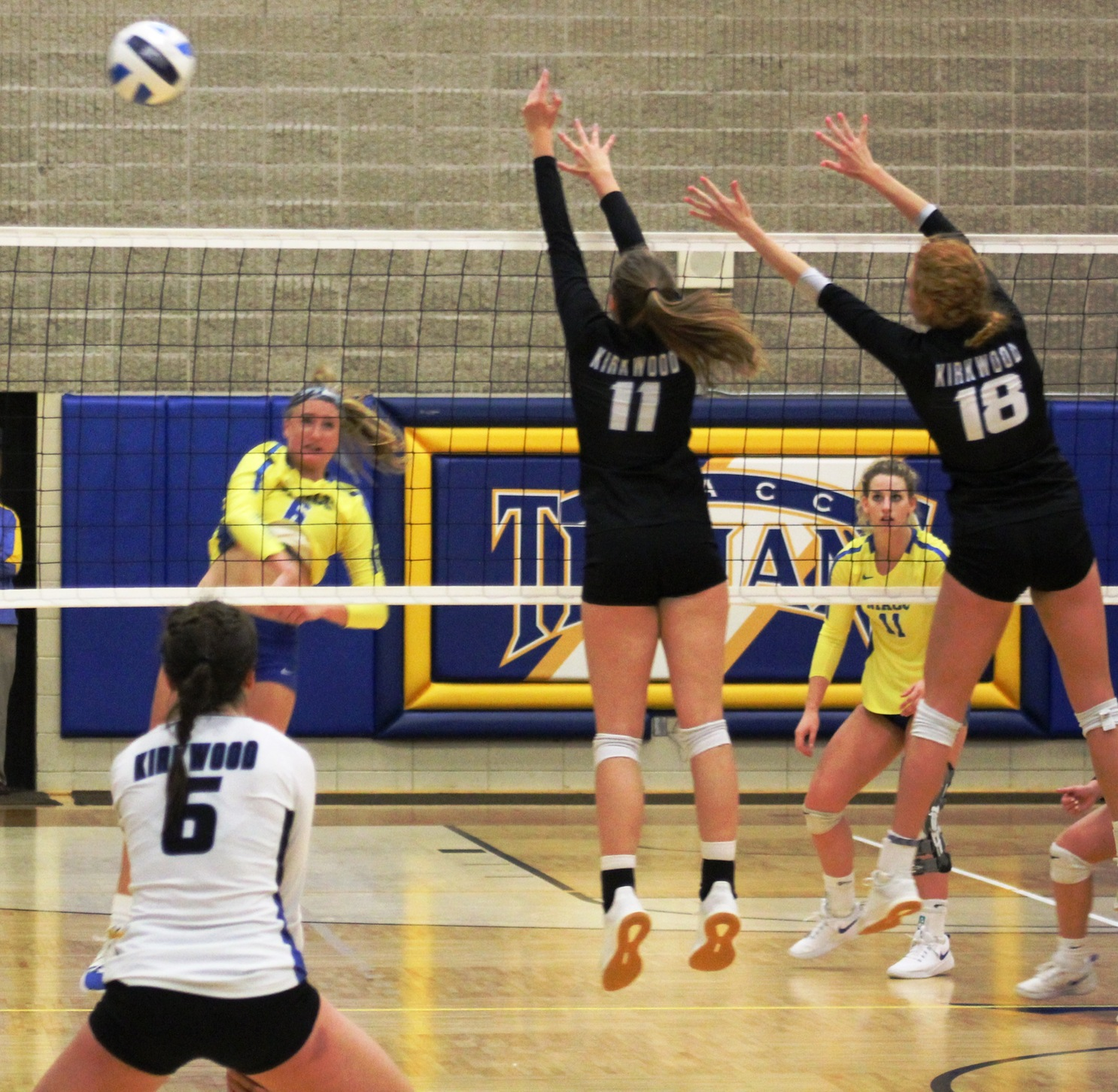 NIACC's Kennedy Meister puts down a kill in last week's win over Kirkwood.