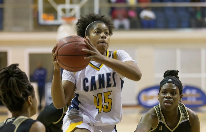 Late Free Throws Edge Lady Canes Over Cougars