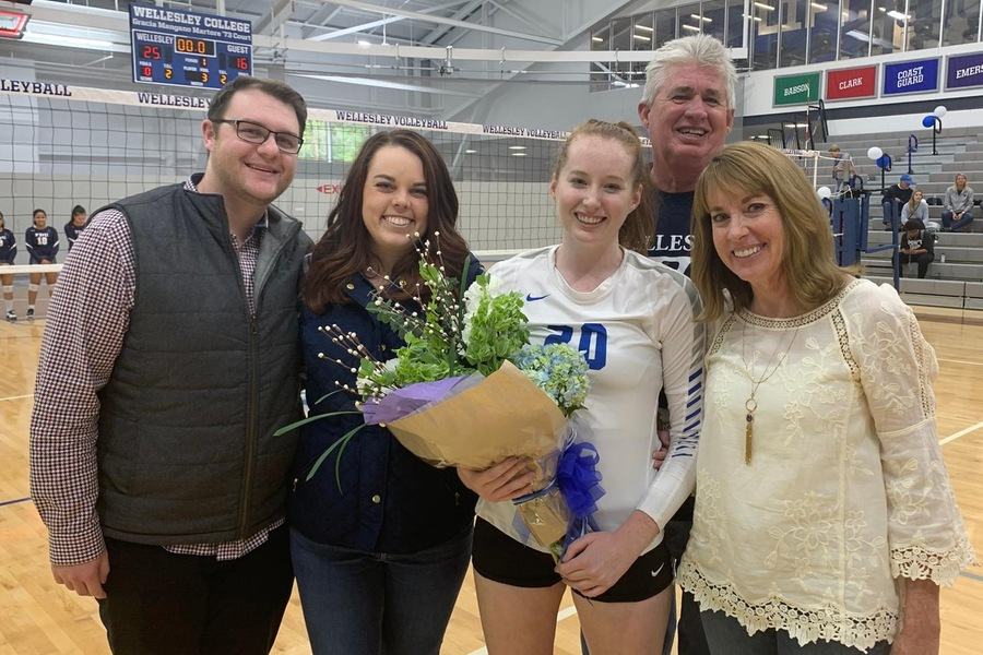 The Blue recognized senior Meghan Shoop prior to Saturday's game vs. FDU.