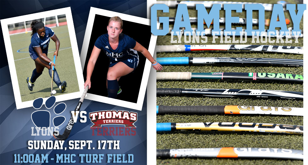 Gameday photo showcasing field hockey's game against Thomas at 11am on Sunday, September 17th