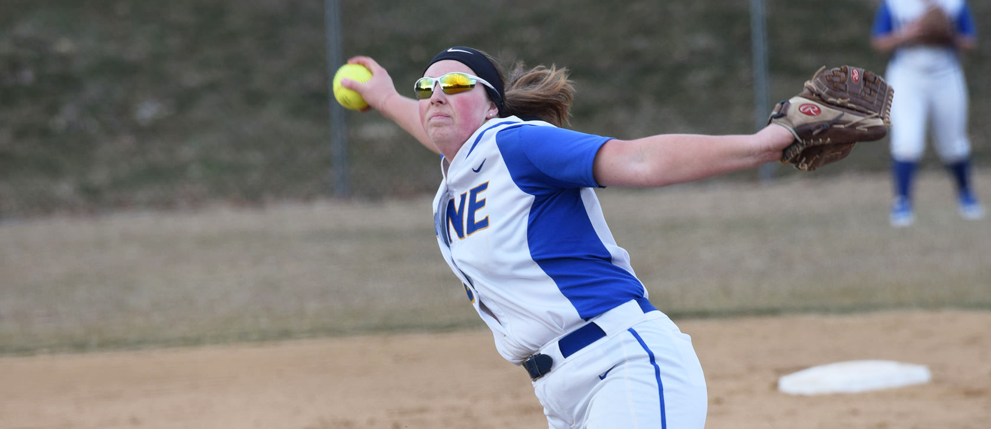 Junior Aimee Kistner pitched six shutout innings in Western New England's 6-2 win over Albright on Sunday. (Photo by Rachael Margossian)
