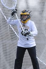 Natlie Rau made nine saves in the semifinals against Boston University.