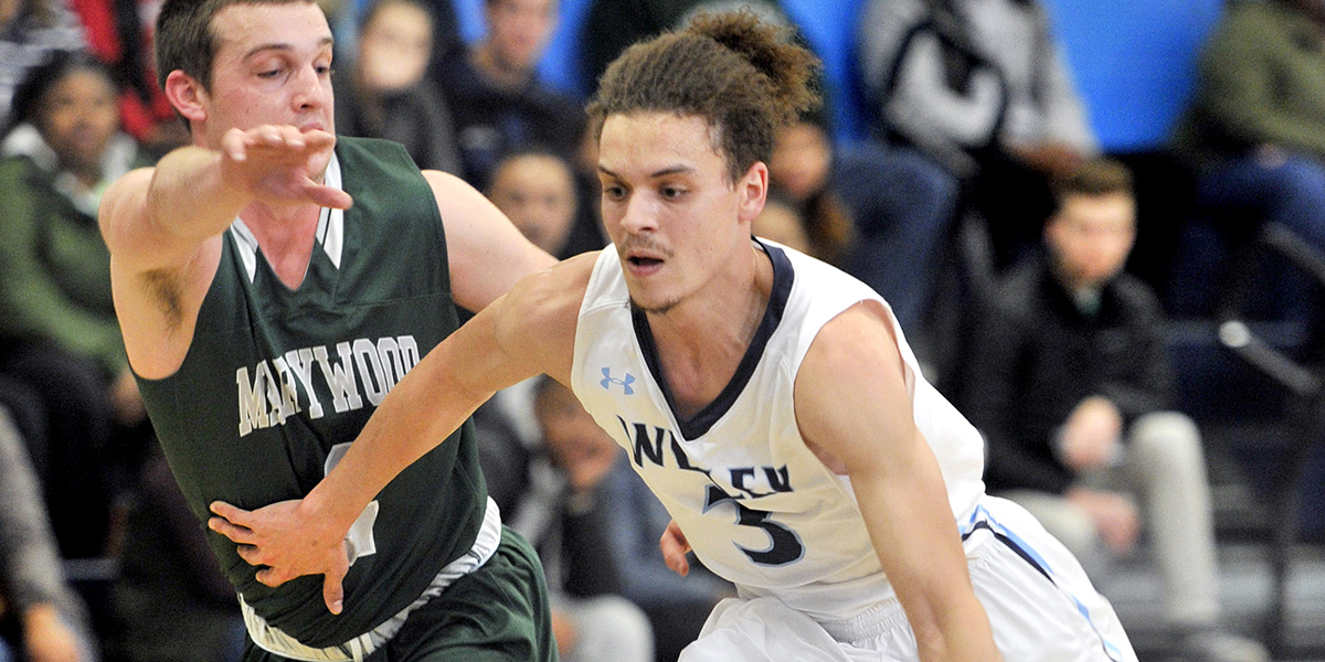 Men's basketball outlasts Gwnyedd Mercy 86-83, secures spot in Atlantic East playoffs