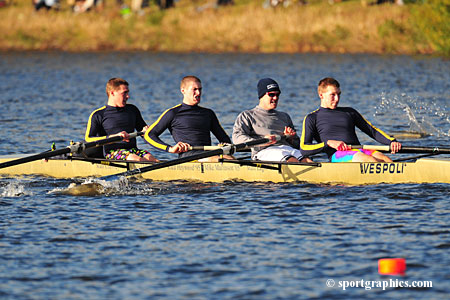 Men's Crew Closes Out Fall Slate With Top 15 Performances At Head Of The Fish, Quinsigamond Novice Challenge Regattas