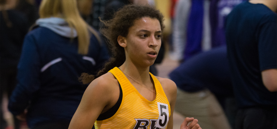 Junior distance runner Molina Otte won the 3,000-meter run at the Hillsdale Wide Track Classic