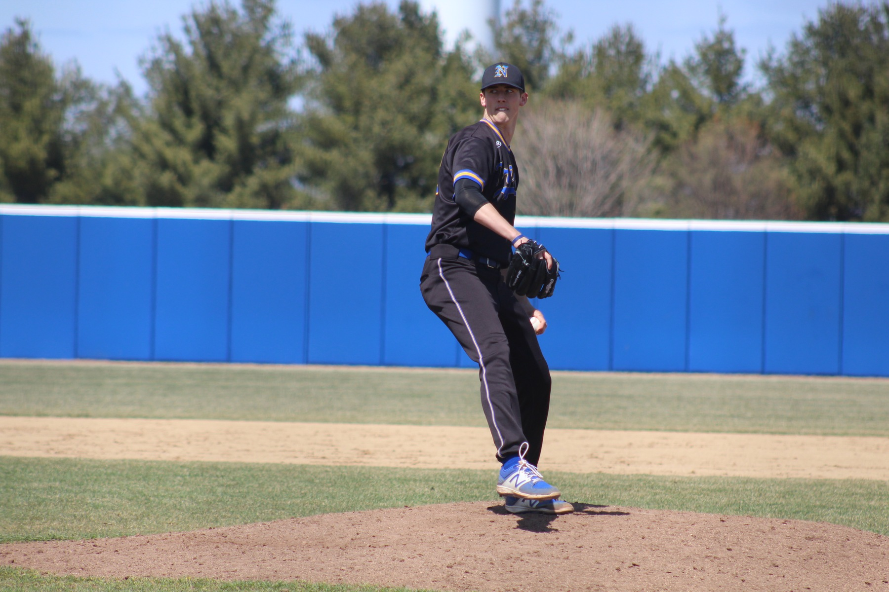 NIACC's Brandon Williamson delivers a pitch in first game of Tuesday's doubleheader at Kirkwood in Cedar Rapids.