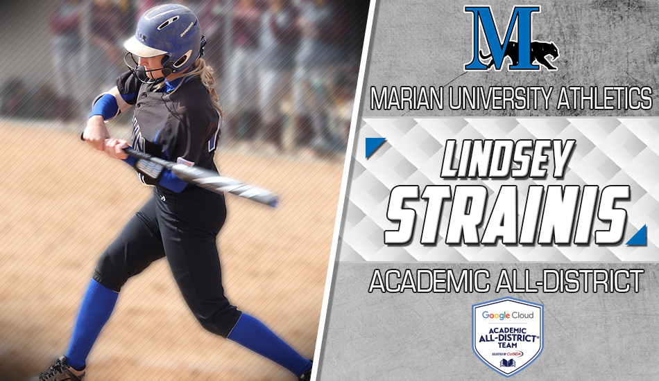 Lindsey Strainis Academic All-District graphic.