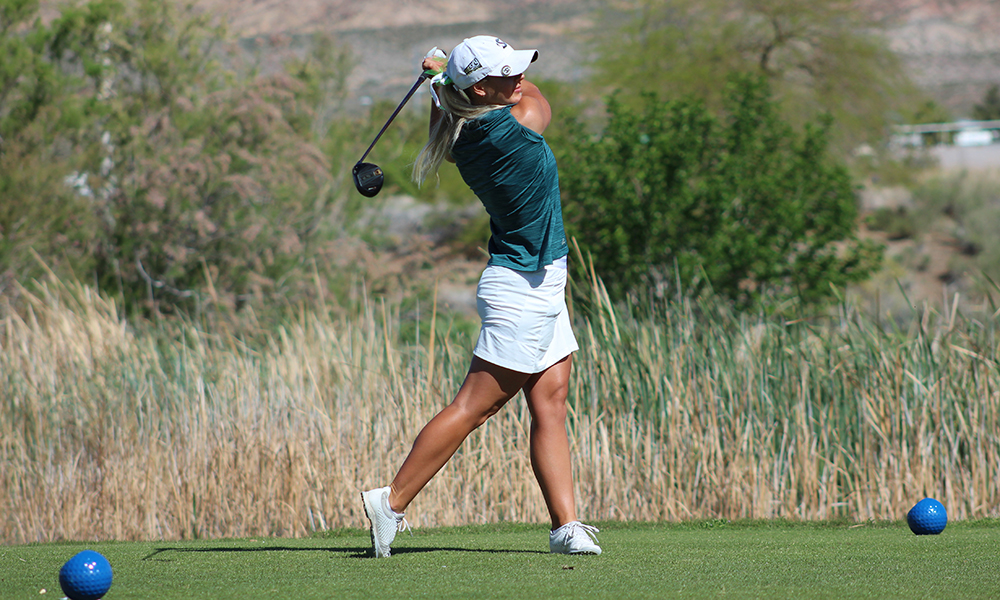 WOMEN'S GOLF IN THE LEAD, BABIC TIED FOR TOP AFTER FIRST DAY OF BIG SKY CHAMPIONSHIP