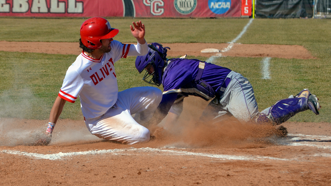 Baseball team swept by Albion in MIAA-opening doubleheader, 10-0 and 2-1