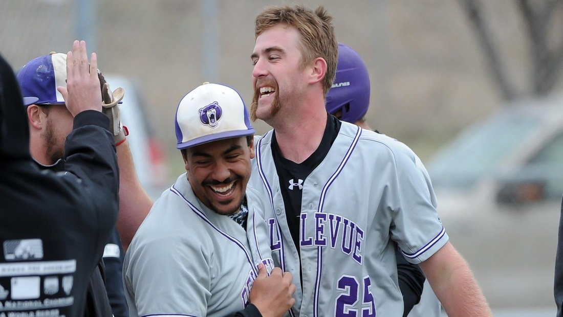 Derik Bontempo (left) and Todd Nicks (right) hit back-to-back home runs to give BU some insurance in the sixth