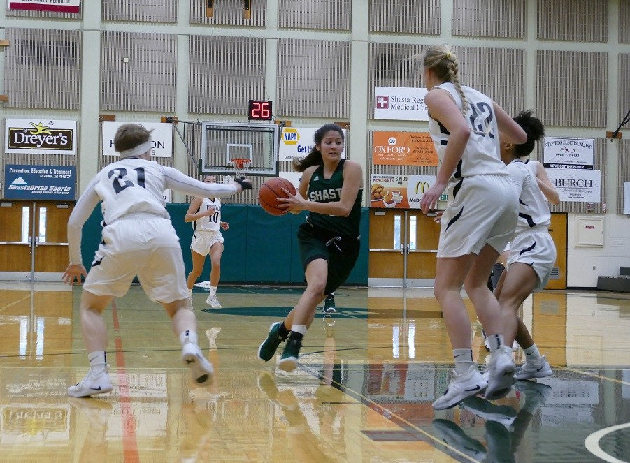 SHASTA COLLEGE ROUTS RIVAL BUTTE 76-58