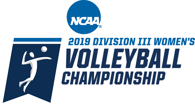 Blue NCAA volleyball logo