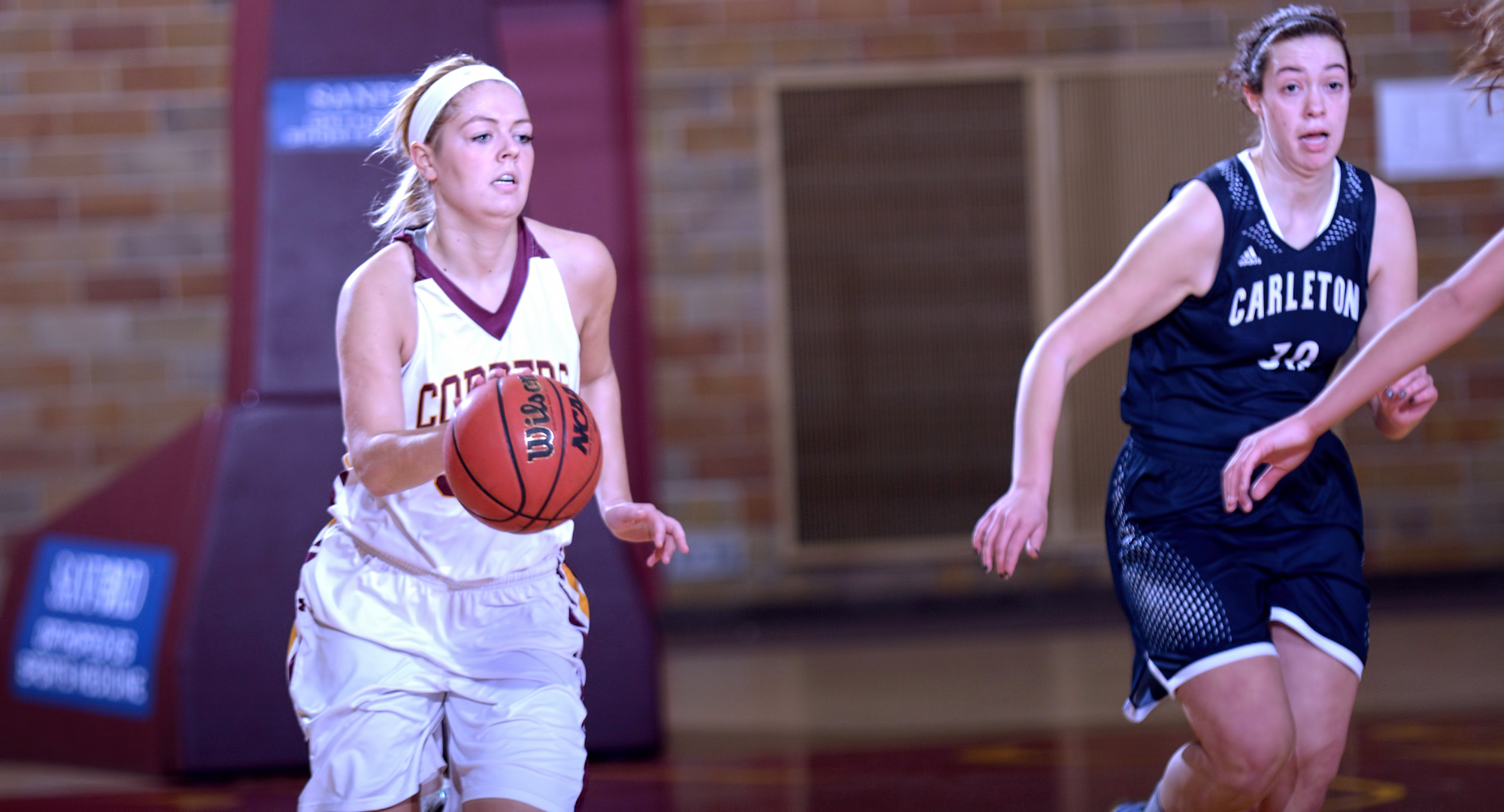 Junior Grace Wolhowe scored a career-high 24 points in the Cobbers' win at Carleton.